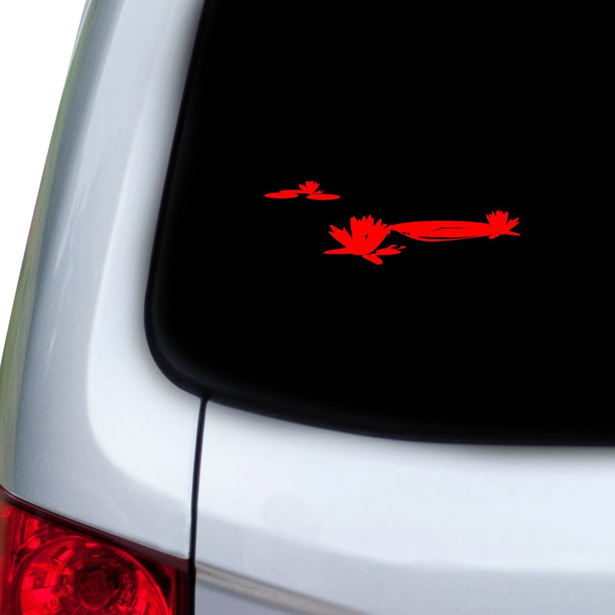 Doors Hoods StickAny Car and Auto Decal Series Lilly Pads Sticker for Windows Red