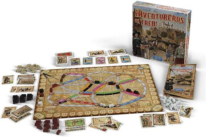 Juego de Mesa ¡Aventureros al Tren! Amsterdam - ¡Sube al Tren de la Aventura!: Amazon.es: Juguetes y juegos
