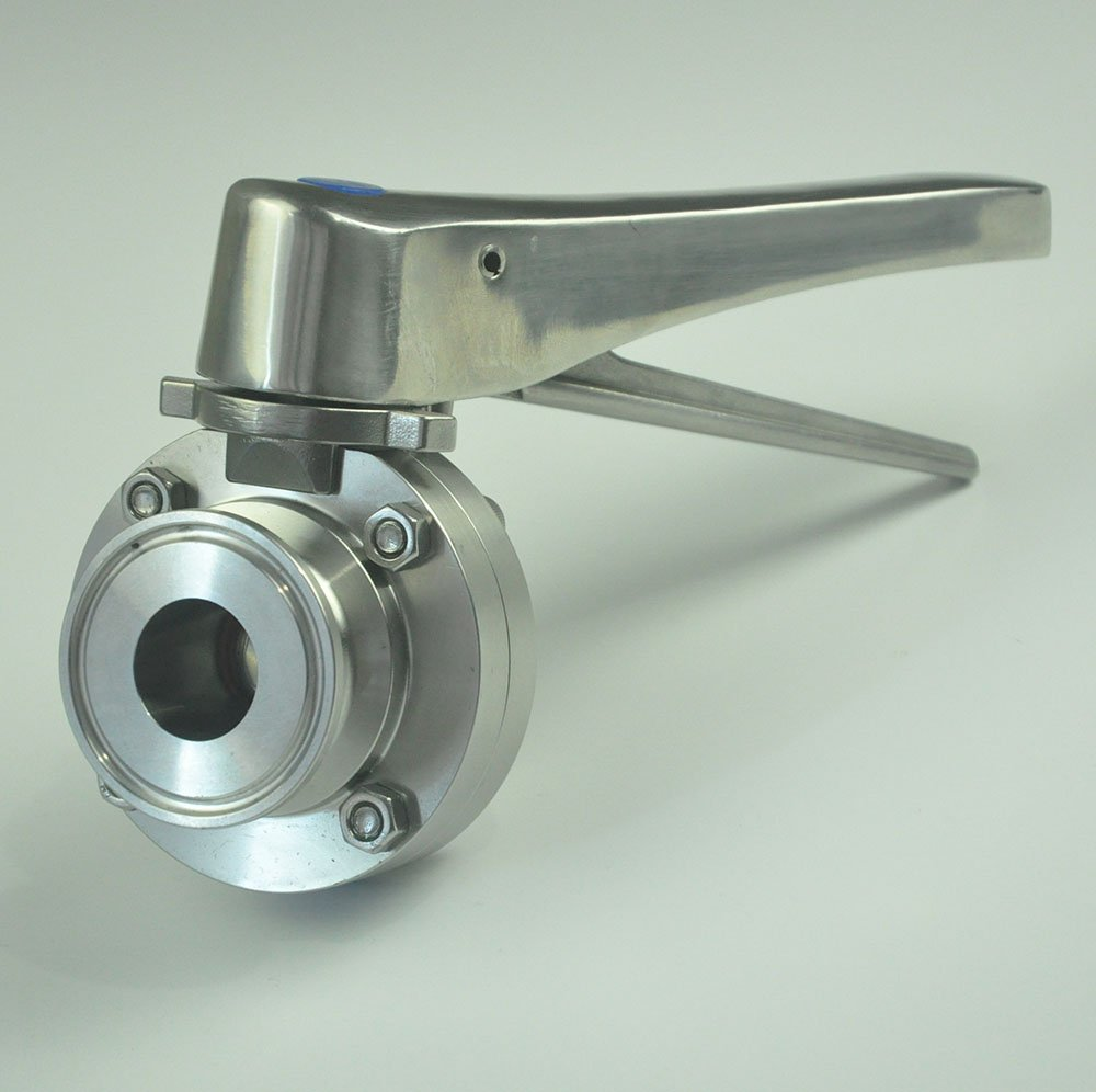 Galleon - TriClamp Sanitary Stainless Steel Handle Butterfly Valve