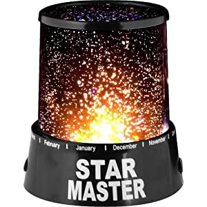 Ninimour- Star Master Starry Moon Beauty Night Cosmos Projector Bed Side Lamp (Black) by Dragonext