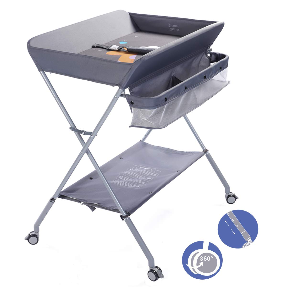 EGREE Baby Changing Table Portable Folding Diaper Changing Station