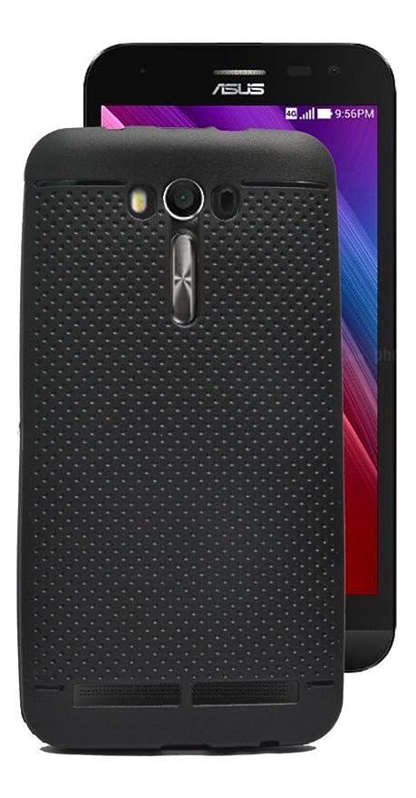 timeless design fb8a9 40092 ECellStreet Dotted Soft Back Case Cover for Asus Zenfone 2 Laser ZE550KL -  Black