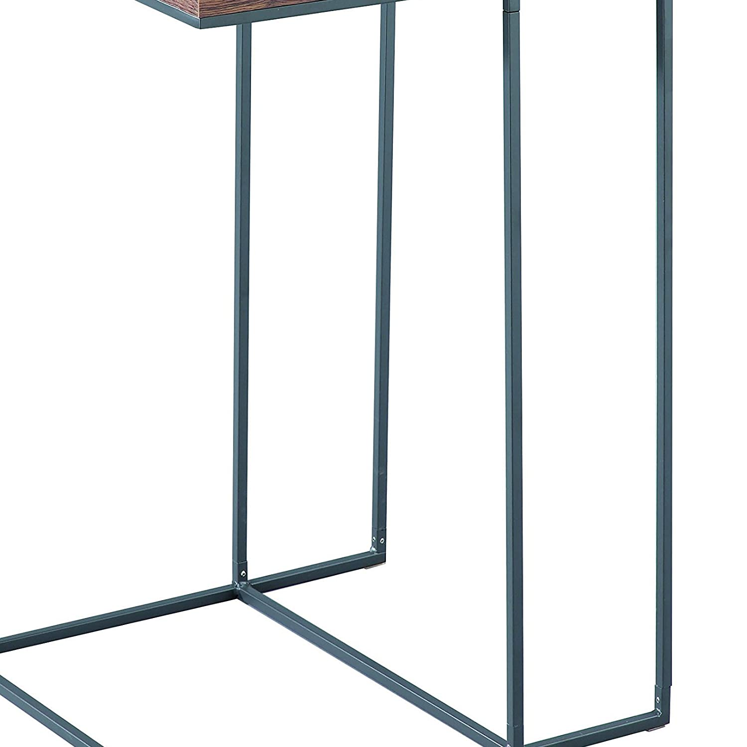 Steel Vintage 40x40x60 cm ASPECT Alana Wooden Top Side End Laptop Table//Sofa Couch Console Stand