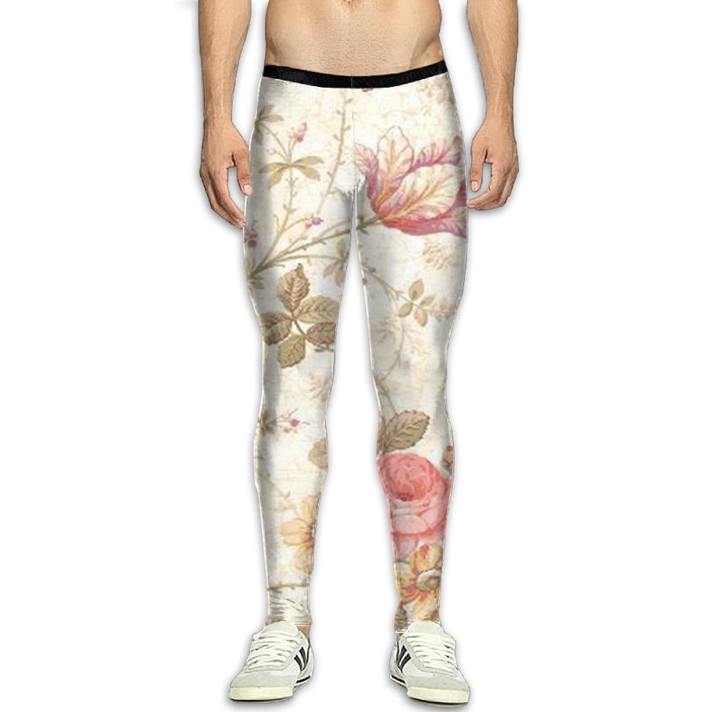 Virgo Flowers Floral Base Layer Compression Pants//Running Tights Leggings Athletes Spandex