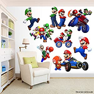 Super mario bros room decor decal removable for Best home decor from amazon