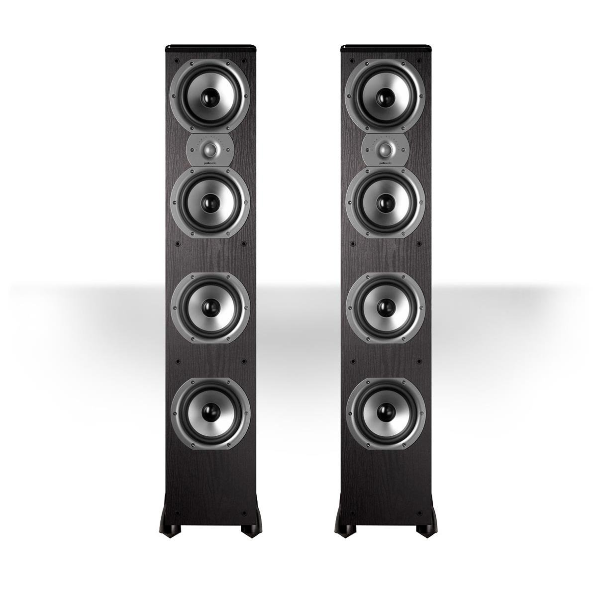 Polk Audio TSi500 High Performance Tower Speakers with Four 6-1/2'' Drivers - Pair (Black)