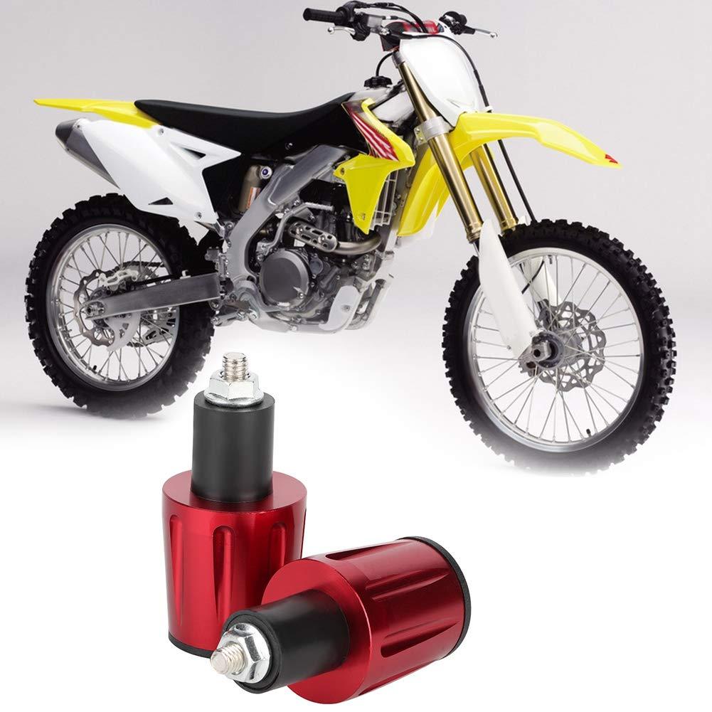 accessoire pour voiture de rue bouchons Embouts de guidon de guidon de moto en aluminium de 22 mm Bleu