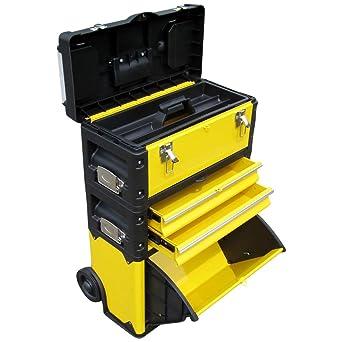 Carro de Herramientas de metal XL Tipo B305ABD -> ahora con pestillo y la cerradura del cajón: Amazon.es: Industria, empresas y ciencia