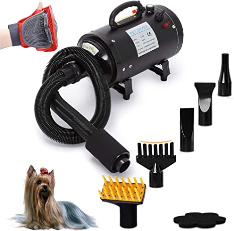 Free Paws Dog Dryer 4.0HP 2 Speed Adjustable Heat Temperature