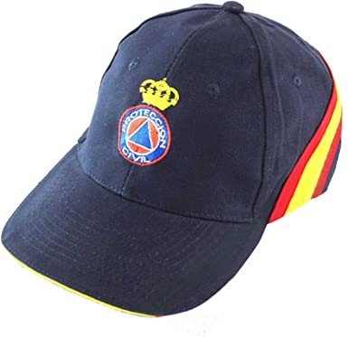 PC Gorra Bordada Proteccion Civil Bandera de España Regulable ...