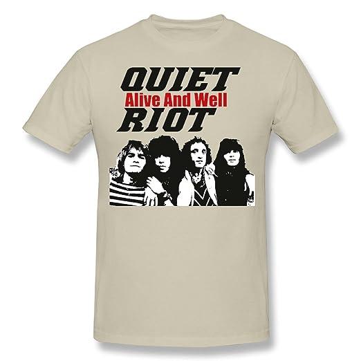 9328f8ec Amazon.com: Men's QUIET RIOT Alive And Well T-shirt S Natural ...