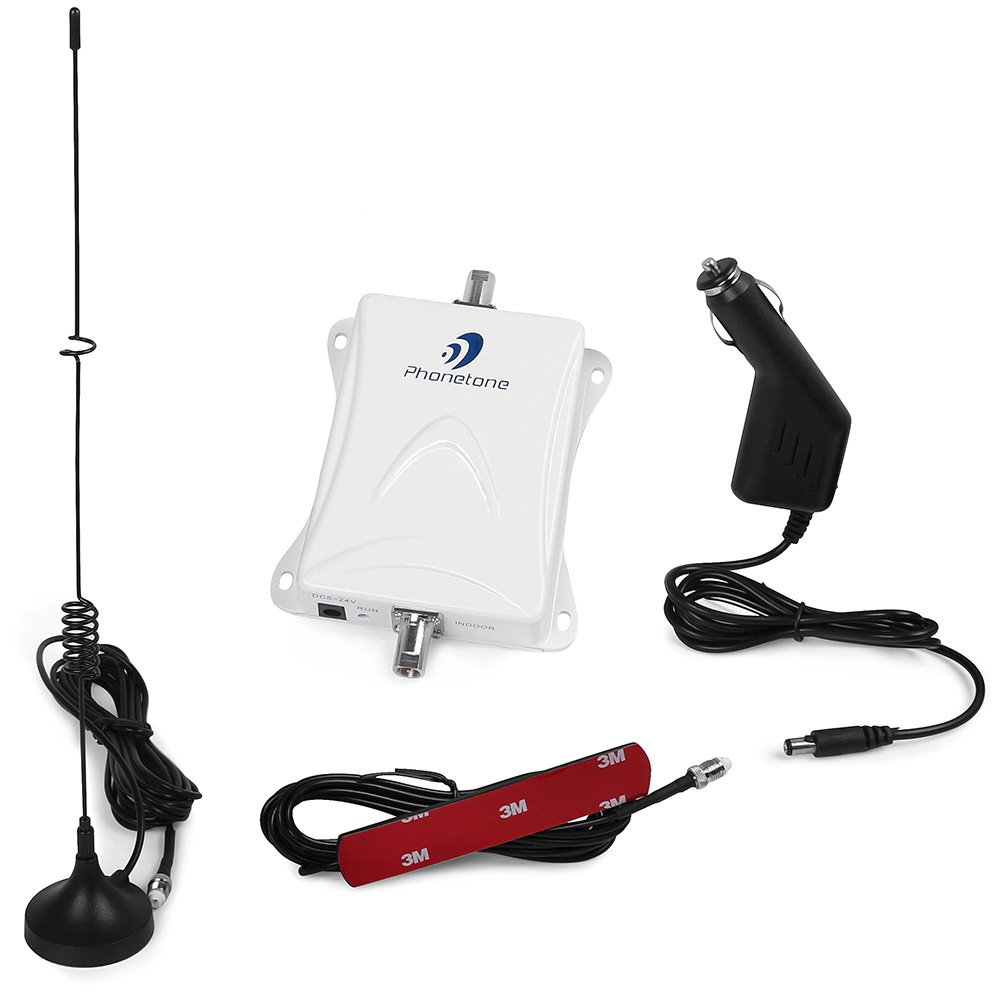 Phonetone 850MHz 3G GSM CDMA Repeater Cell Phone Signal Booster kit for car Boost Signal to Make Calls