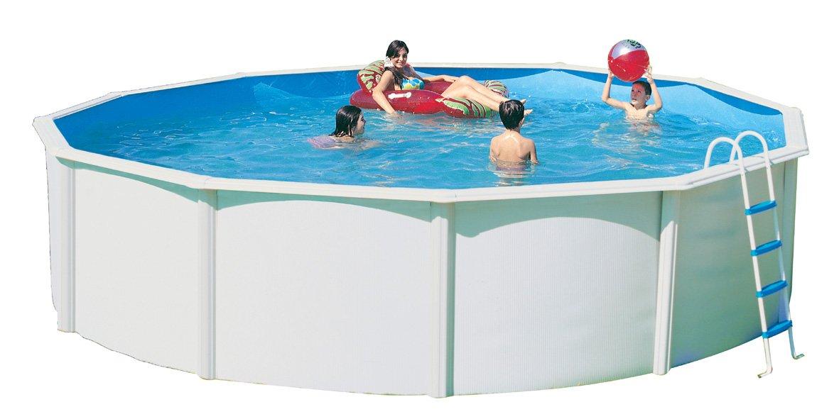 Piscina acero redonda canarias 5,50 x altura 1,20m 8482: Amazon.es: Juguetes y juegos