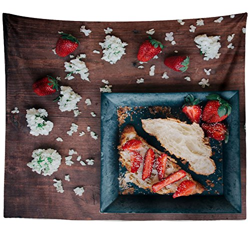 Westlake Art - Wall Hanging Tapestry - Croissant Bread - Photography Home Decor Living Room - 51x60in ()