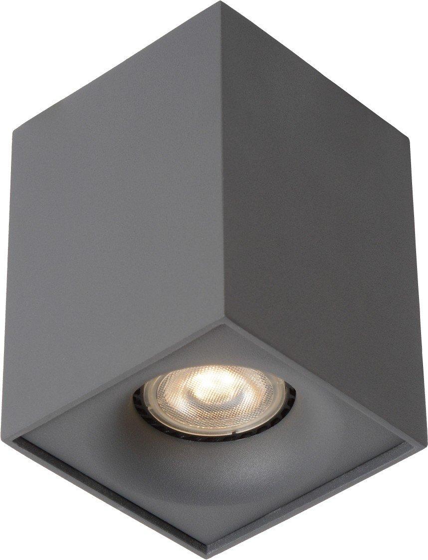 Lucide Bentoo-LED-Deckenstrahler-LEDDim. -GU10-1X4,5W 3000K, Aluminium GU10, 4.5 W, grau 8,3 x 8,3 x 11 cm