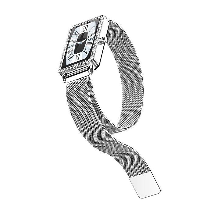 YWLINK Smartwatch Mujer Diamantes Mujeres Ritmo CardíAco ...