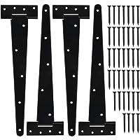 TIMESETL T-Scharnier, vouwscharnieren 4 stuks scharnieren voor fabrieksdeuren, magazijndeuren, tuindeuren