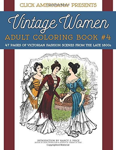 Coloring Book 4 : Amazon.com: vintage women: adult coloring book #4: victorian
