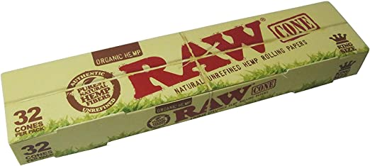 Organic King Size Pre-Rolled Cones 32 Pack