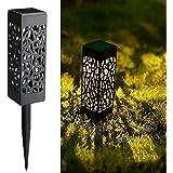 Maggift 8 Pcs Solar Powered LED Garden Lights, Solar Path Lights Outdoor, Automatic Led Halloween Christmas Decorative Landsc