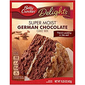 Betty Crocker German Chocolate Cake Nutrition