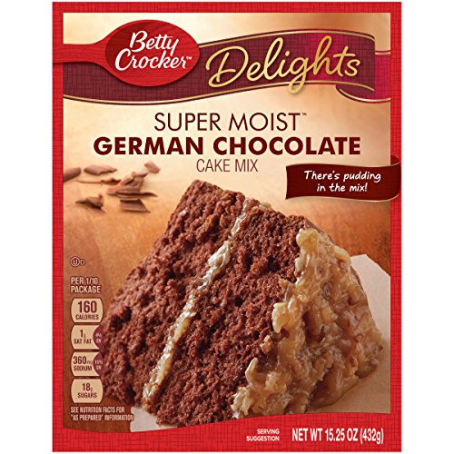 Betty Crocker Baking Mix Super Moist Cake Mix German Chocolate 1525 Oz Box