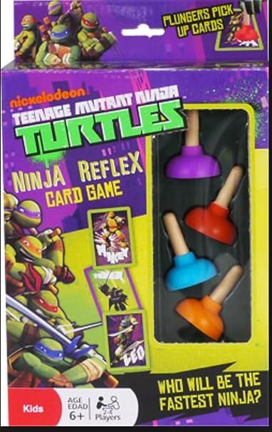 Teenage Mutant Ninja Turtle Reflex Card Game Plunger Pick Up Cards