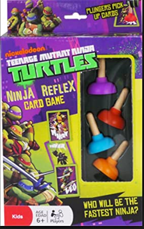 Teenage Mutant Ninja Turtle Reflex Card Game Plunger Pick Up ...