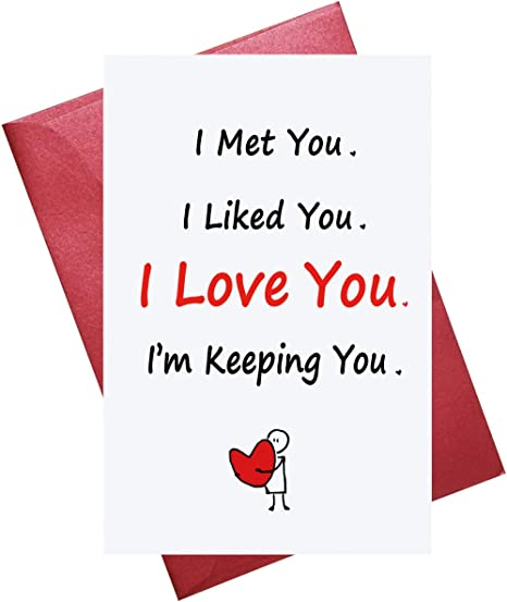 COLOURFUL HUSBAND I JUST CALLED TO SAY I LOVE YOU BIRTHDAY GREETING CARD