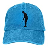 LETI LISW Golf SwingWashedDenim Cap Adult Unisex Adjustable Hat