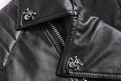 Glestore Jacket Leather Noir Biker Motard Manteau Pour Homme xxl S Authentique TrTdw5xfq