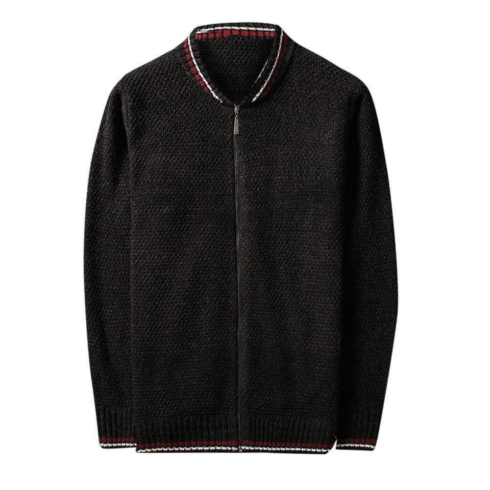 Men's Winter Coat Sale Leisure Baseball Collar Thickening Knitted Jacket