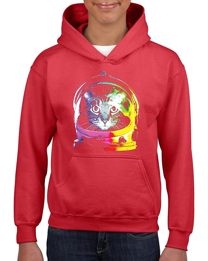 Xekia Space Cat Hoodie For Girls and Boys Youth Kids