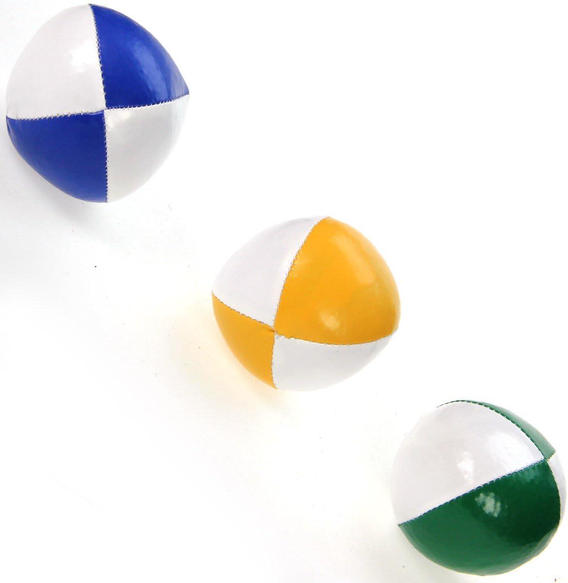 Lot de 3 balles de jonglage Molles 120g Bleu Vert et Jaune