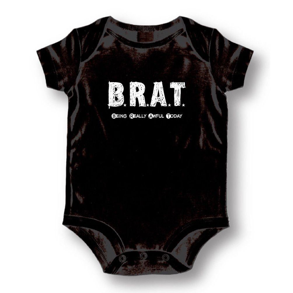 Dustin clothing series Brat Being Really Awful Today Baby Boys Girls Toddlers Funny Romper 0-24M
