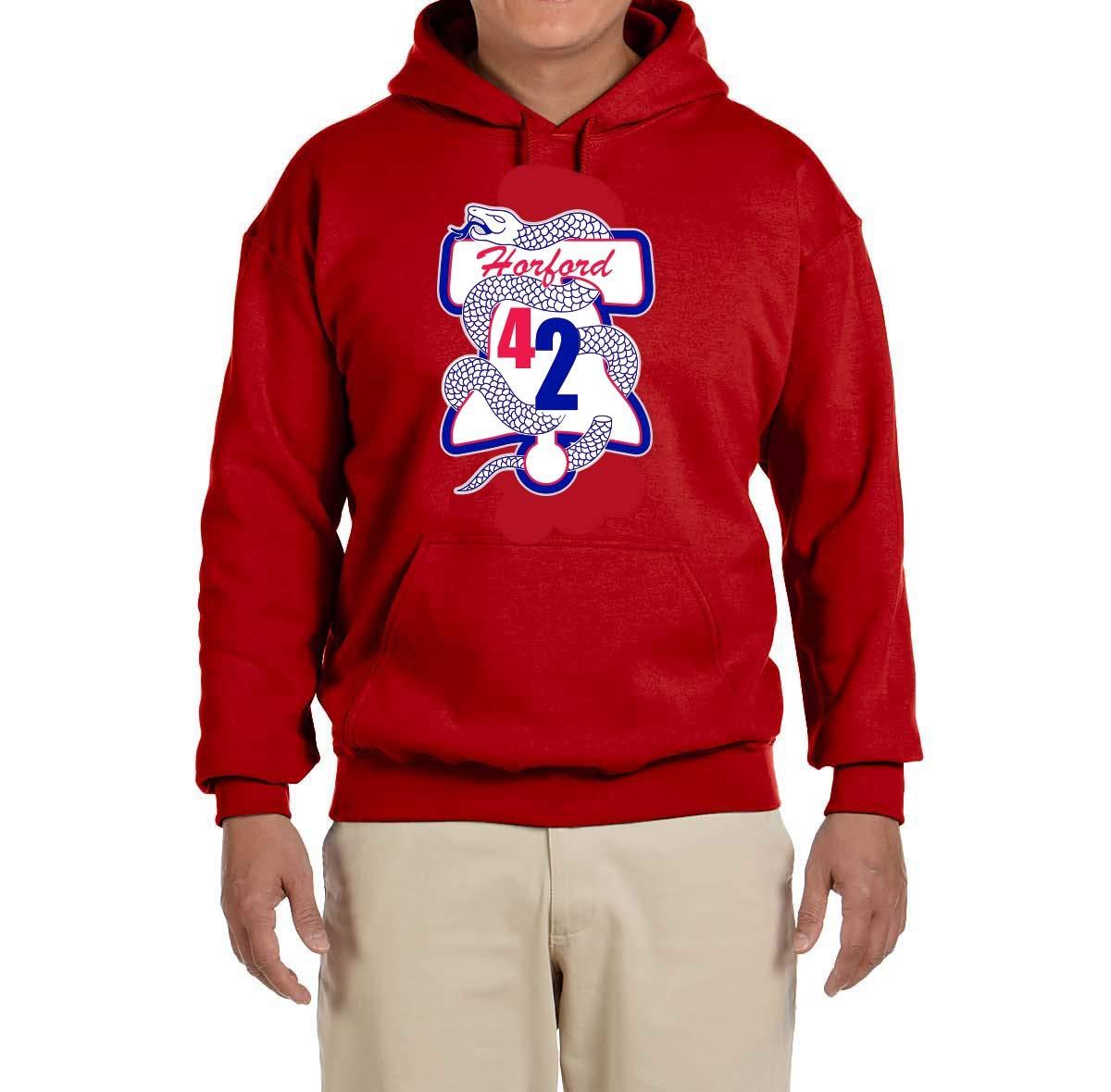 Tobin Clothing Blue Philadelphia Horford Logo Hooded Shirts