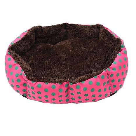 Roblue cojines redondo para gato cesto extraíble de algodón para perros gatos animales de compañía