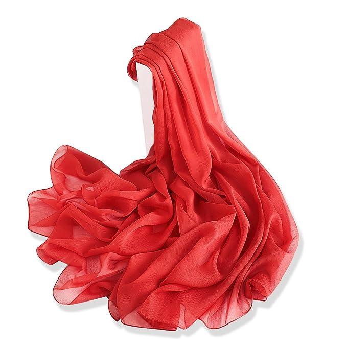Scarf Wraps Donna Elegante Chiffon Plecupe Multicolore Sciarpa H6BqwIWOEI