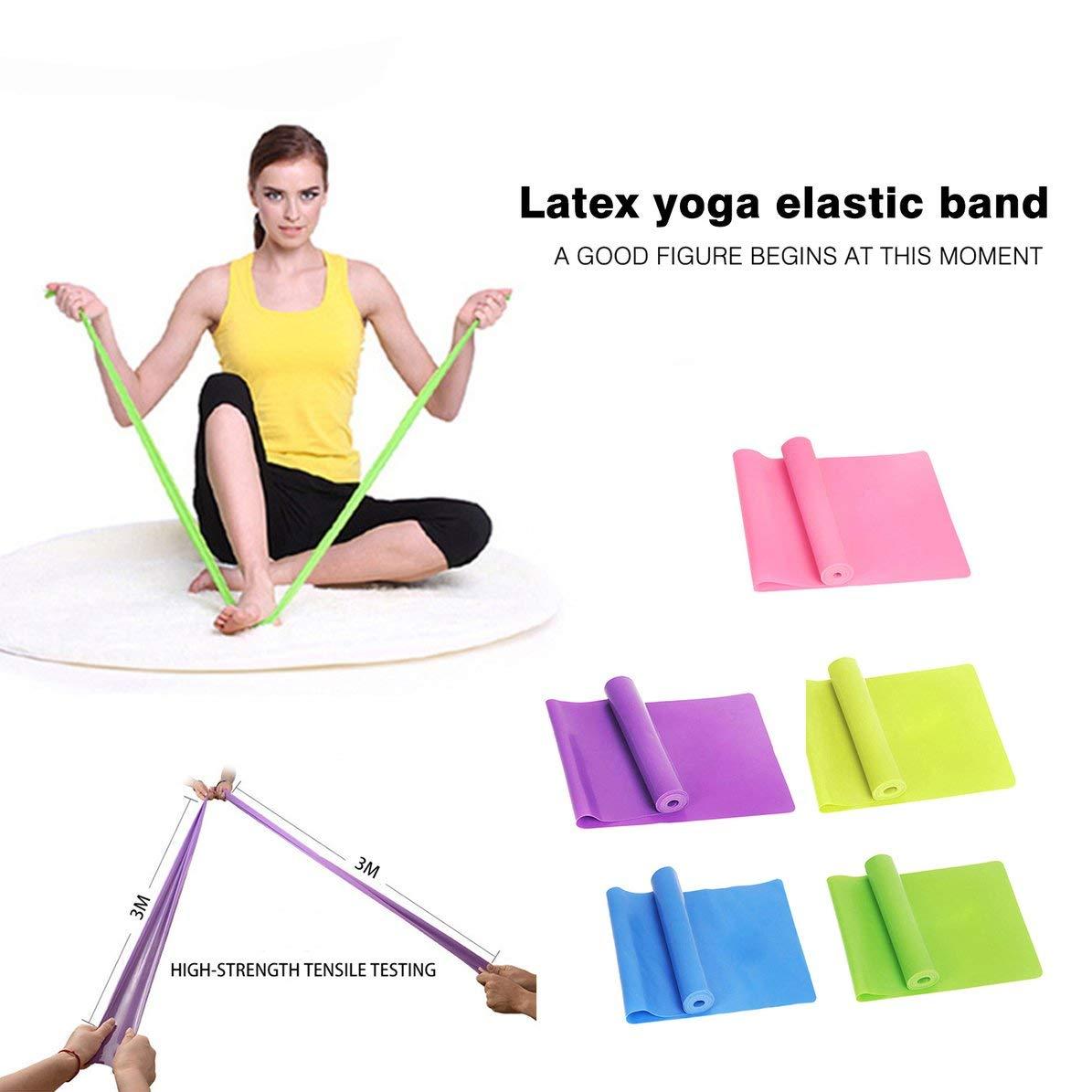 WEIWEITOE Sport Gym Fitness Attrezzature per lallenamento alla Forza Allenamento Elastico Resistenze Bands Allenamento Yoga Gomma Loops Sport Pilates Band Blu,