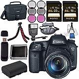 Canon EOS 7D Mark II DSLR Camera 18-135mm STM Lens 9128B016 + LPE-6 Lithium Ion Battery + Sony 16GB SDHC Card + Sony 32GB SDHC Card + Flexible Tripod + Universal Slave Flash Unit Bundle