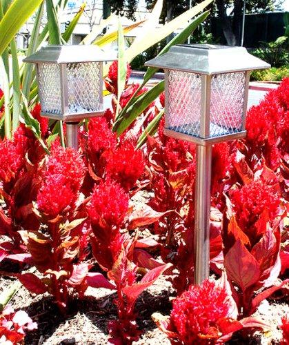 Garden Sun Light ST360 Stainless Steel Square Solar Light
