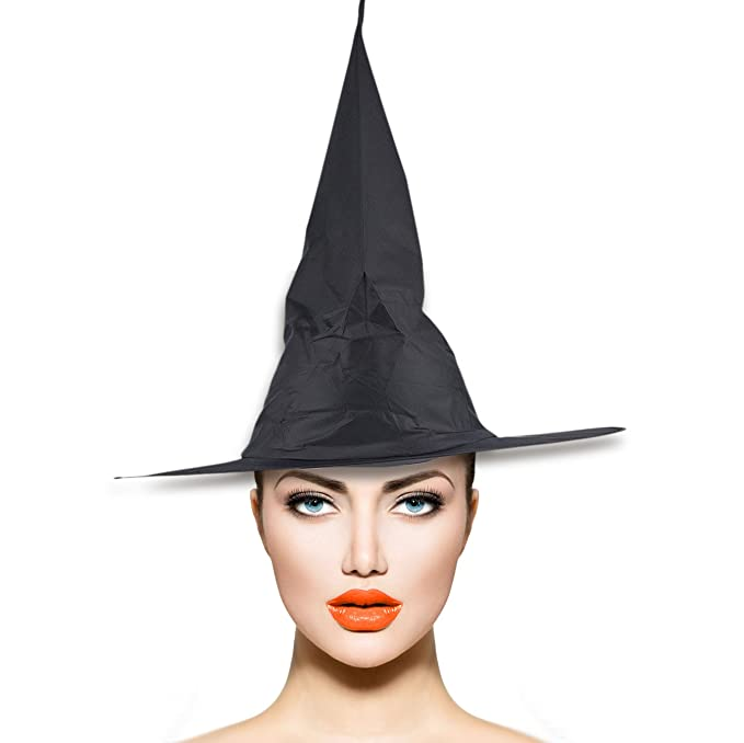 13ebb9bcb02 Amazon.com  Lux Accessories Black Halloween Witch Hat Costume Accessory   Clothing