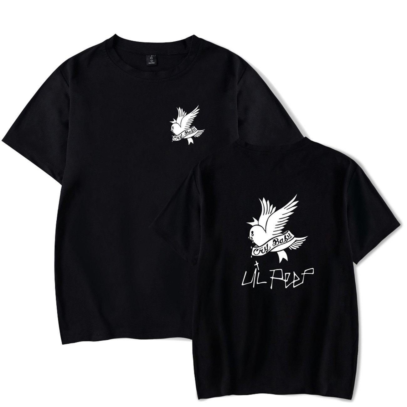 4a40021d0d1f SERAPHY Unisex Tshirt Lil Peep Cry Baby Rapper Hip Hop Spring Mens T ...