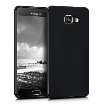 kwmobile Funda para Samsung Galaxy A5 (2016) - Carcasa para móvil en TPU silicona - Protector trasero en negro mate