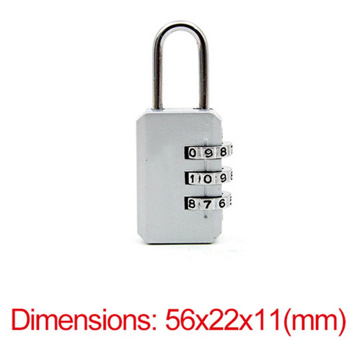 e75348616693 Fashion 3 Digit Dial Combination Code Number Lock Padlock For ...