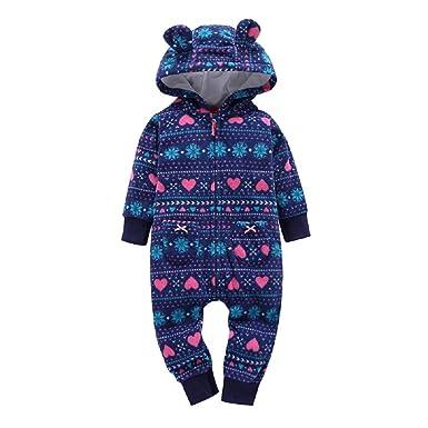 a175451f9b5f Amazon.com  MOLYHUA Footed Pajamas Baby