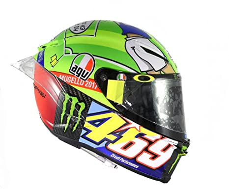 Amazon.com: AGV Pista GP R Carbon Valentino Rossi Limited Edition Mugello 2017 469 Kentucky Kid Tribute Motorcycle Helmet - SIZE MEDIUM-SMALL: Automotive