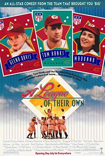 Amazon.com: A League of Their Own Movie POSTER 27 x 40, Geena Davis Tom Hanks, A, MADE IN THE U.S.A.: Posters & Prints