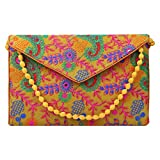 Brazeal Studio Women's Embroidered Ethnic Clutch