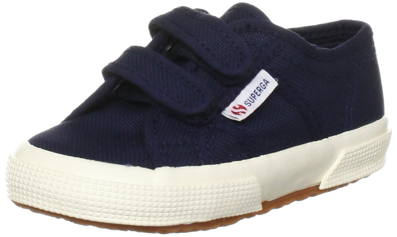 Superga Junior 2750 JVEL Canvas Trainer Navy-933 Gs0003E0 11.5 Child UK